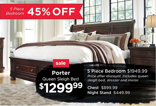 Porter 5 Piece Bedroom