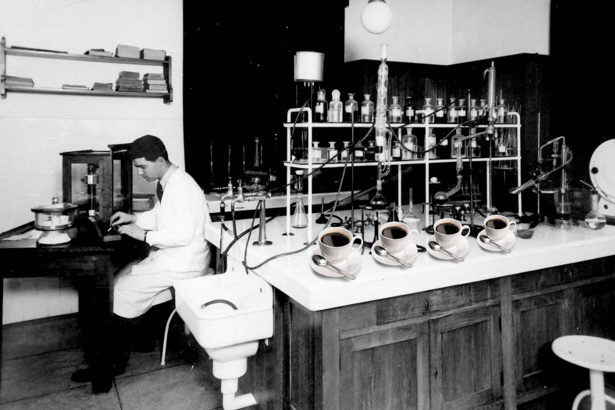 Scientist working on coffee