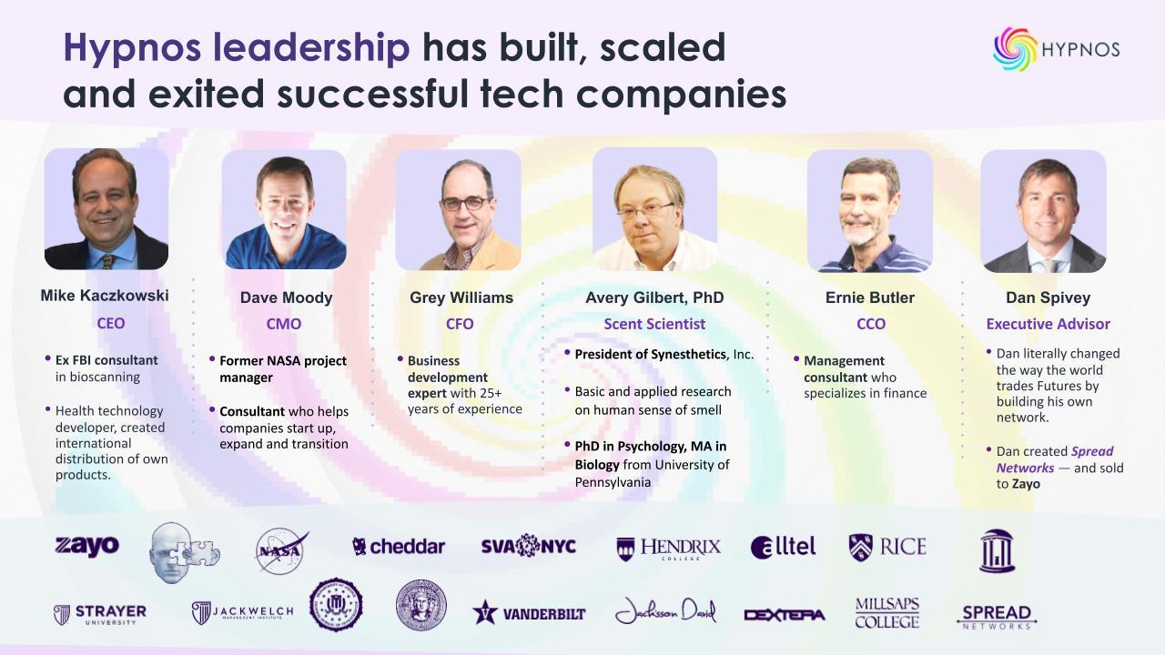 The Leadership of Hypnos Virtual has built, scaled, and exited successful tech companies CLICK THE 'SEE MORE' BUTTON AT THE TOP UNDER THE HIGHLIGHTS TO SEE THE FULL HYPNOS TEAM