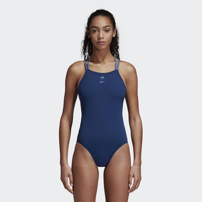 Adidas Parley blue swimsuit econyl