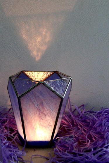 """Подсвечник из стекла """"Небесный кристалл"""""""