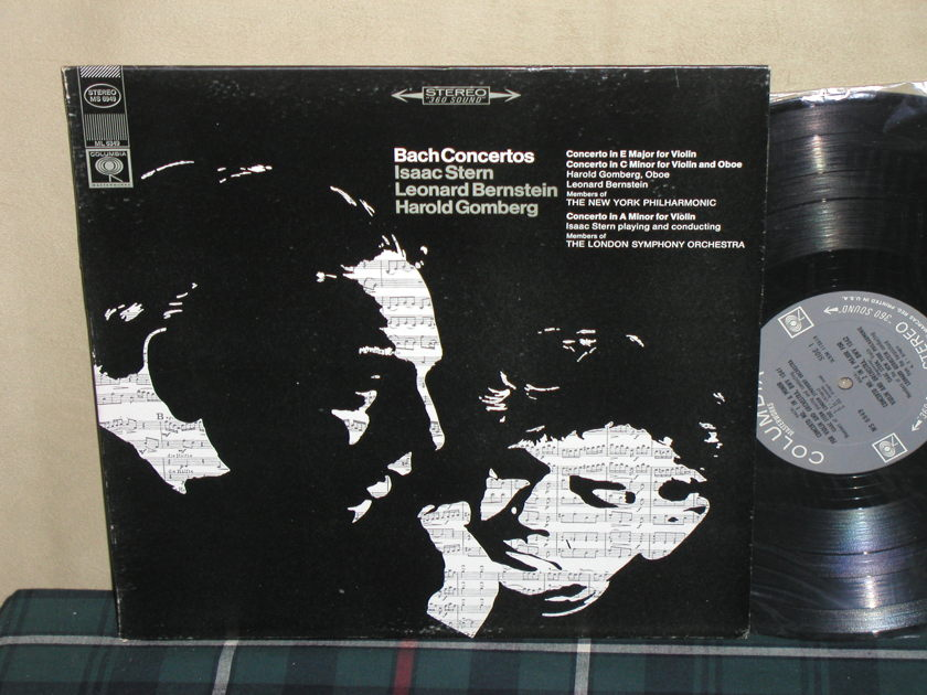 Stern/Bernstein/NYPO - Bach Concertos Columbia MS6949 <360> 1st labels from 60's.