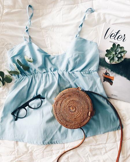 Пижамный топ для сна (голубой)