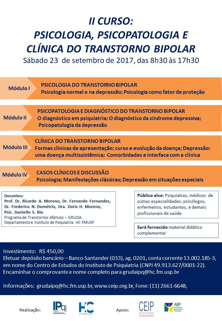 PSICOLOGIA, PSICOPATOLOGIA E CLÍNICA DO TRANSTORNO BIPOLAR