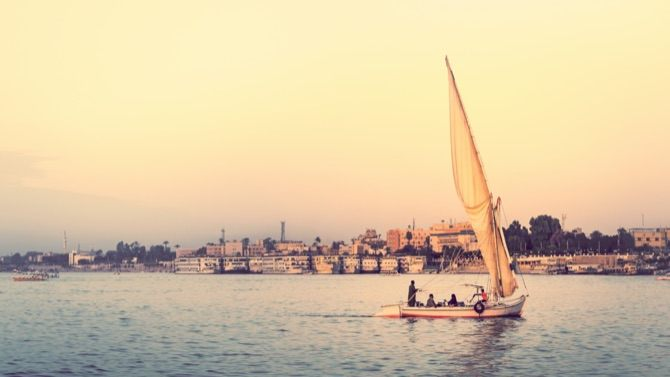 Sailing on the Nile River
