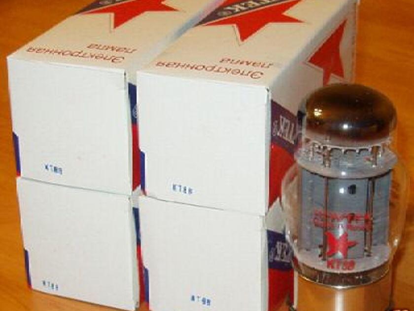 Sovtek tubes, KT88 matched quads Brand New