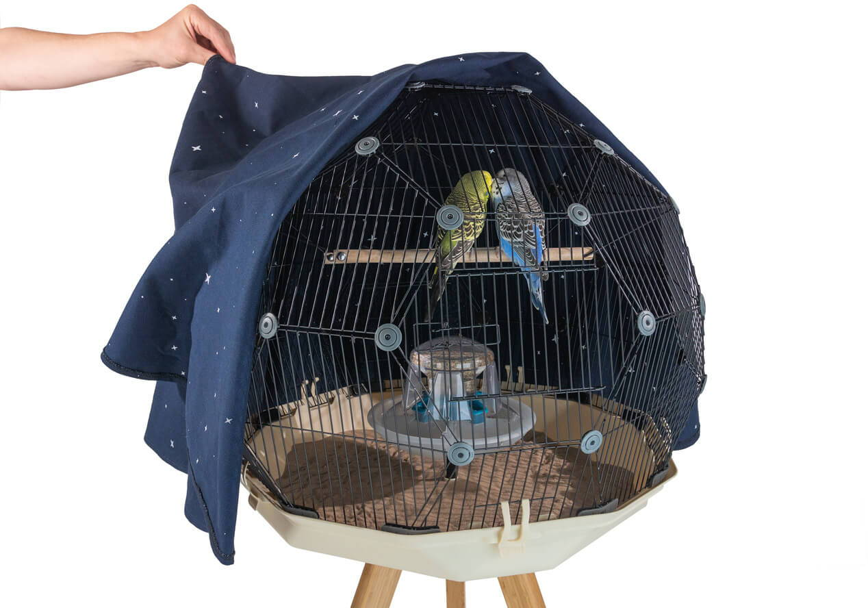 Omlet Geo Bird Cage with night cover