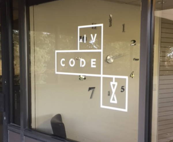 Vinyl Spot Graphic/Decals - IV Code Window Graphic