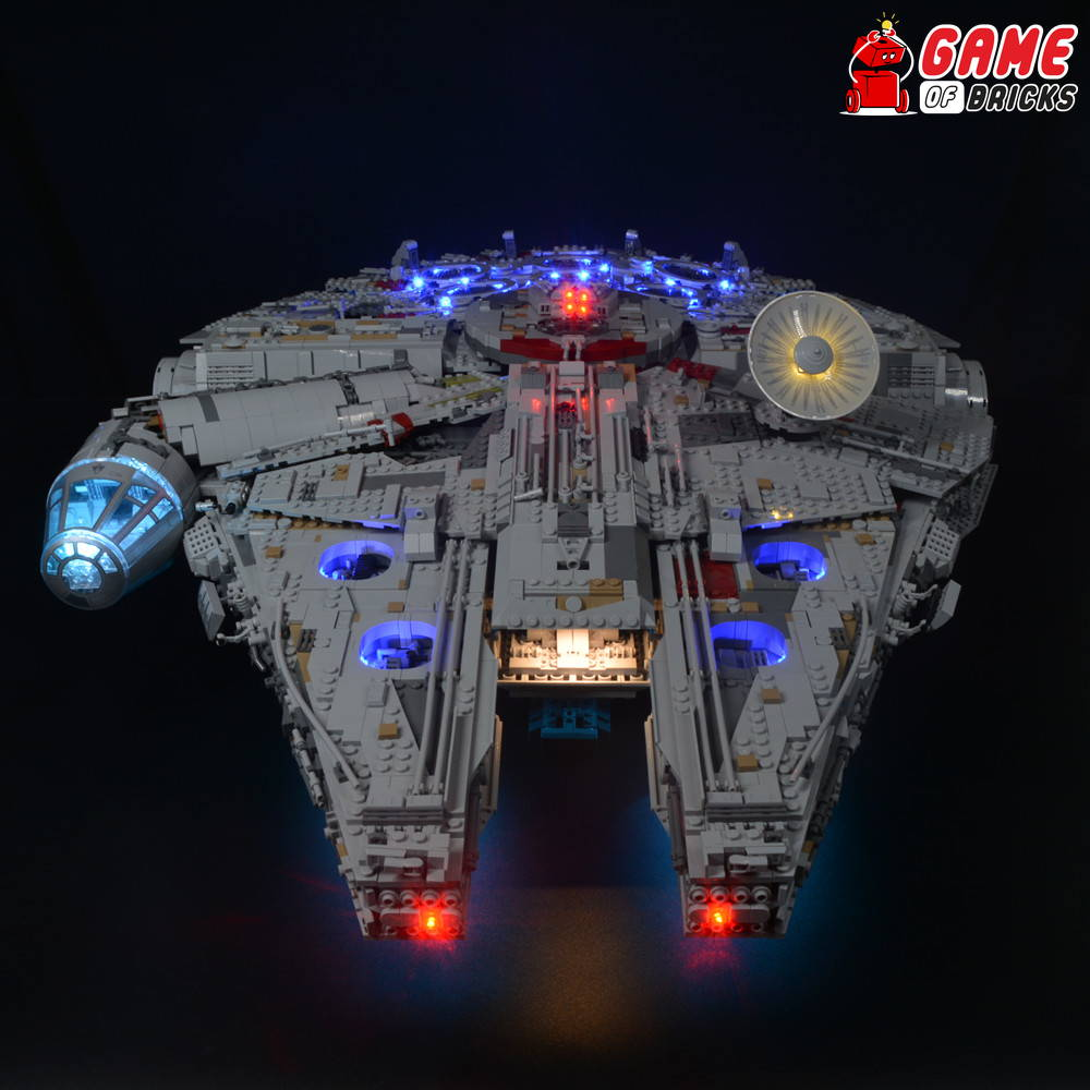lego falcon led light 75192