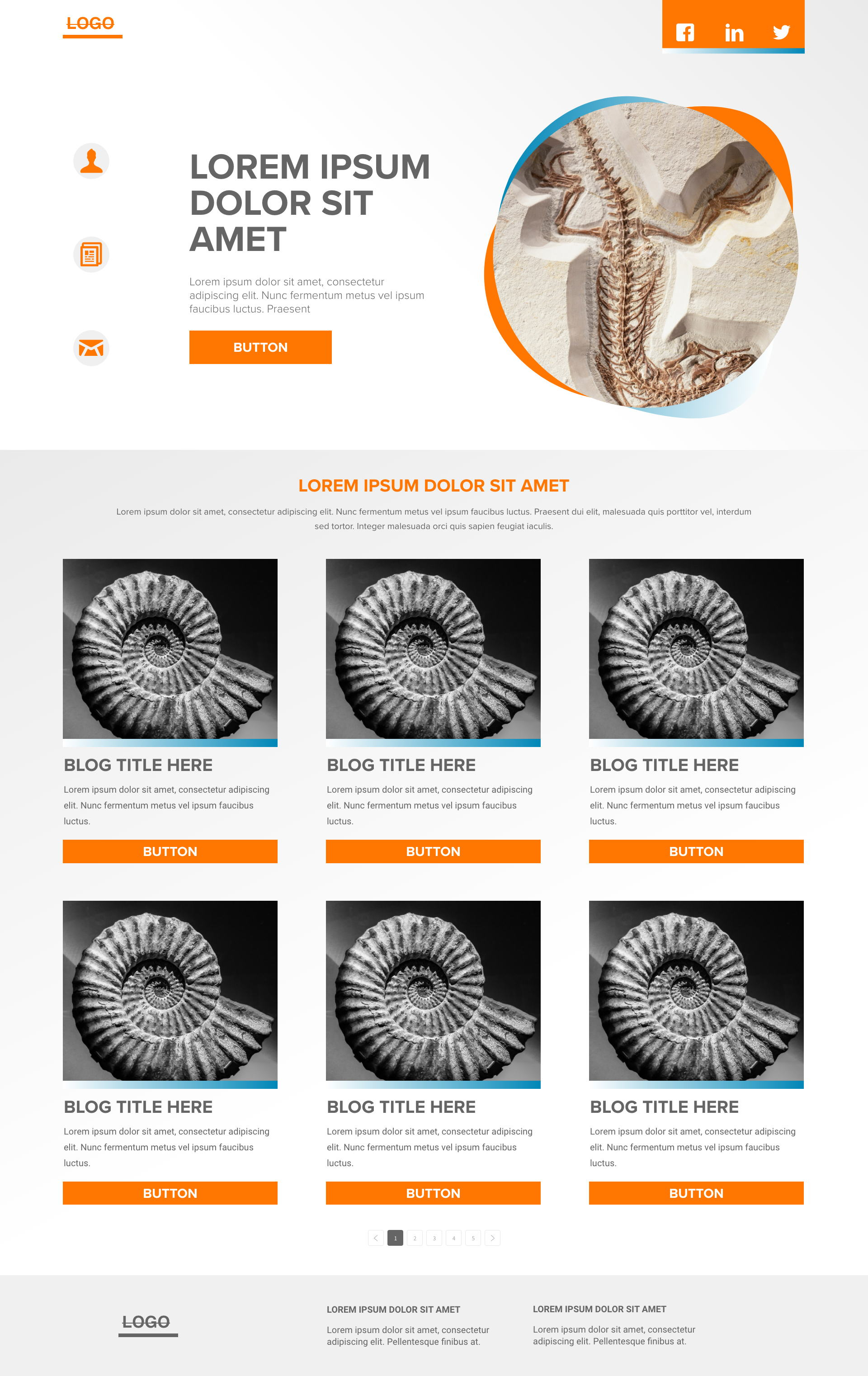 Fossil template's gallery image