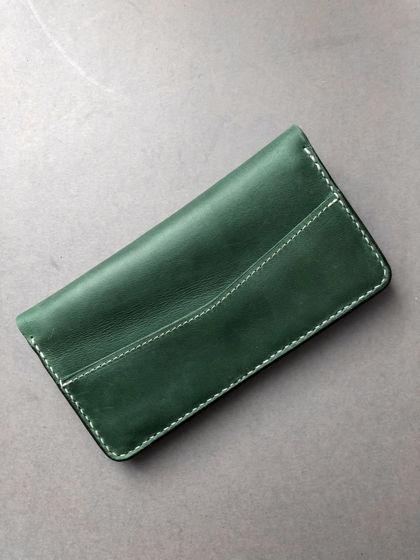 Кожаное портмоне Traveller Green