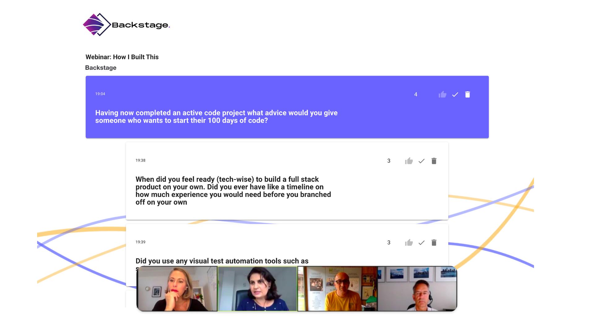 Newny Webinar Q&A Tool Presentation mode