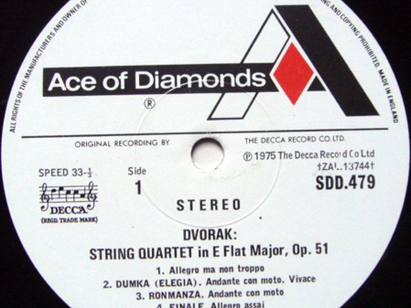DECCA SDD / GABRIELI QT, - Dvorak String Quartets, NM!