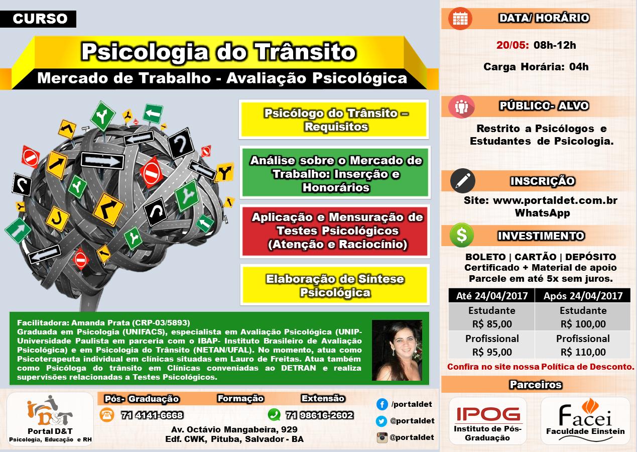 CURSO: Psicologia do Trânsito - Mercado de Trabalho - Avaliação Psicológica