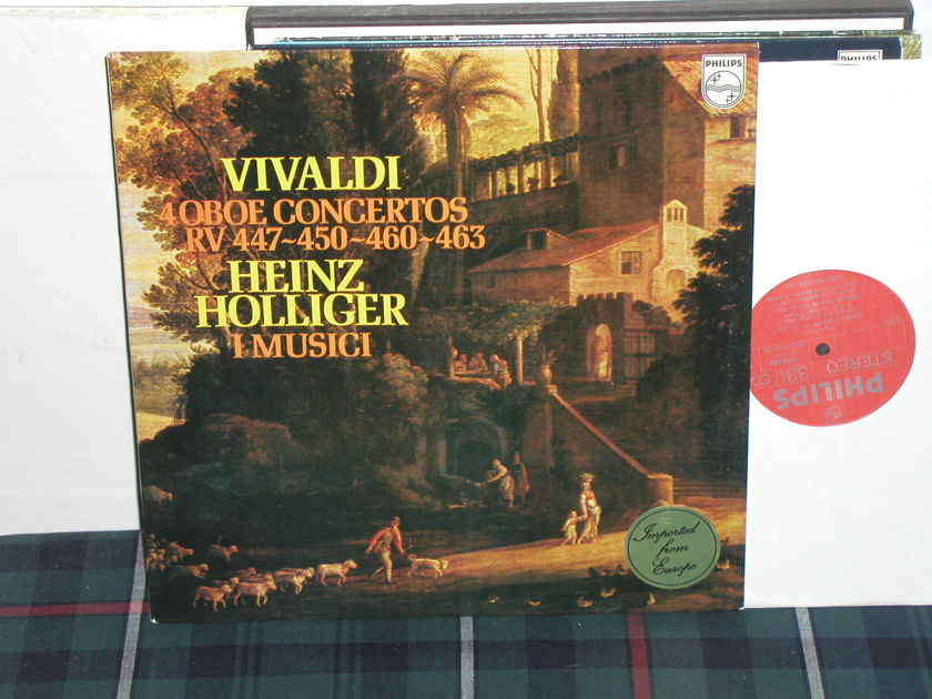 I Musici/Holliger - Vivaldi 4 Oboe Ctos Philips Import LP 9500