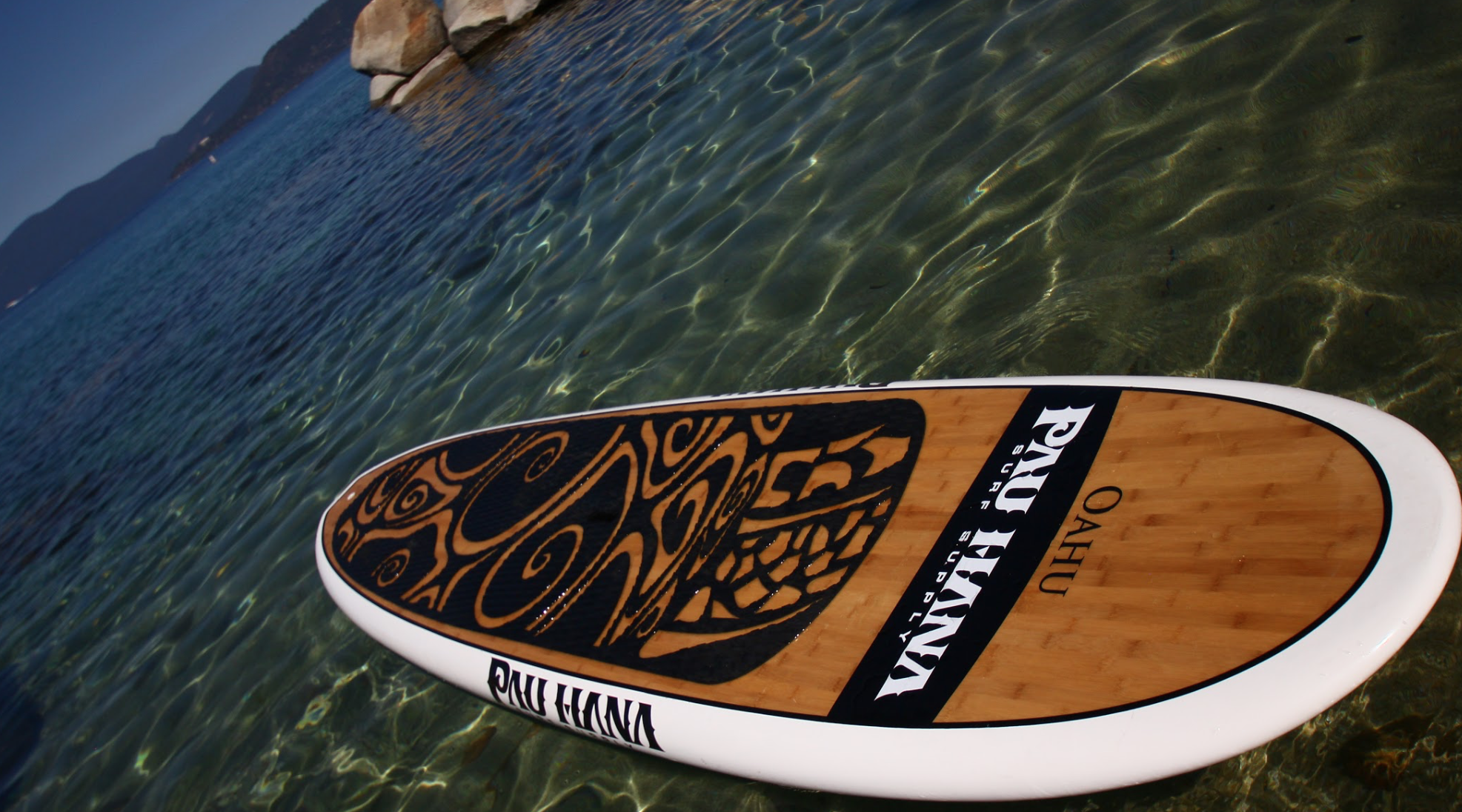 sup board crystal clear water
