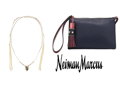 Nakamal Lariat Choker Necklace and Neiman Marcus Wristlet Zip Pouch