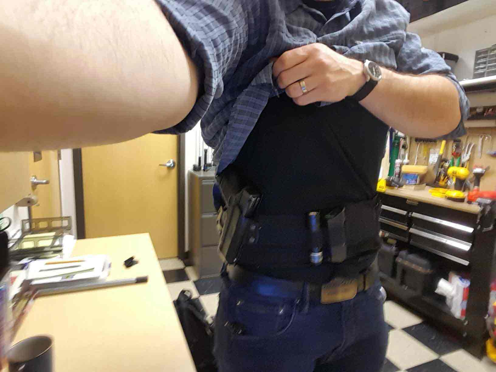 dragon belly holster review, belly band holster for men, customer picture