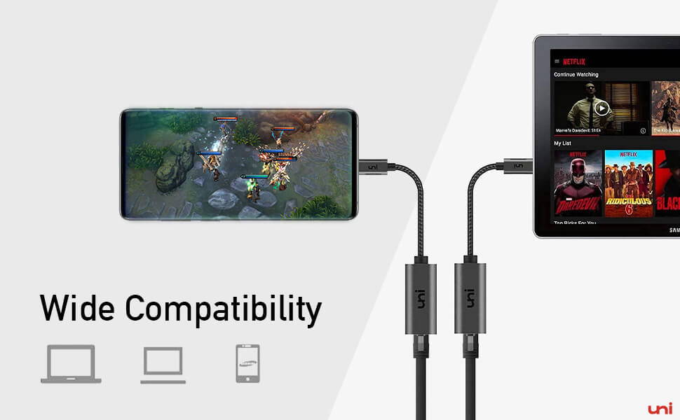 Ethernet Adapter wide compatibilty with USB C and Thunderbolt 3