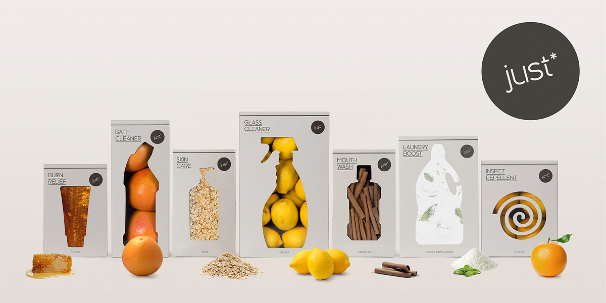 WWF just* - Packaging designed to eliminate packaging logo