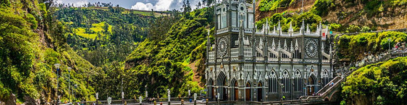 Колумбия: Пасто и окрестности. Лас-Лахас («Церковь над пропастью»). Озера Ла Коча и Зеленое озеро.