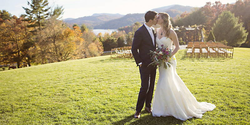 Fall wedding full of love