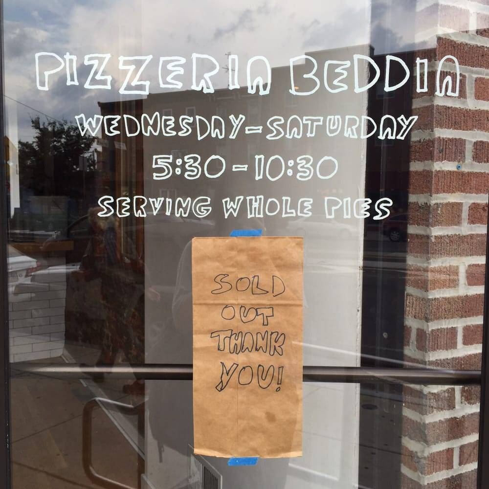 Sold Out at Pizzeria Beddia | Revittle