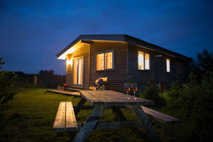 Romantic log cabin Cardiff