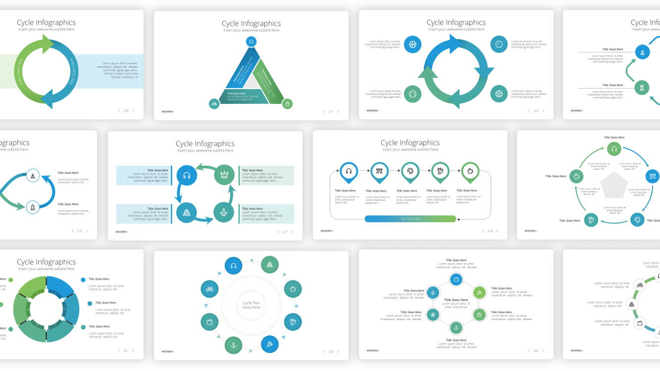 cycle infographic powerpoint template, infographic powerpoint template, infographic presentation template