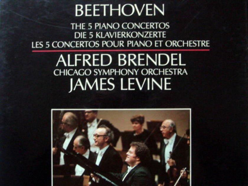Philips Digital / BRENDEL-LEVINE,  - Beethoven Complete Piano Concertos, MINT, 4LP Box Set!
