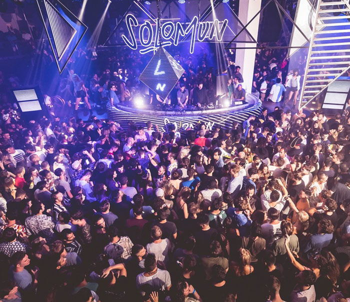 Pacha Ibiza discoteca, Solomun, party at night in Ibiza