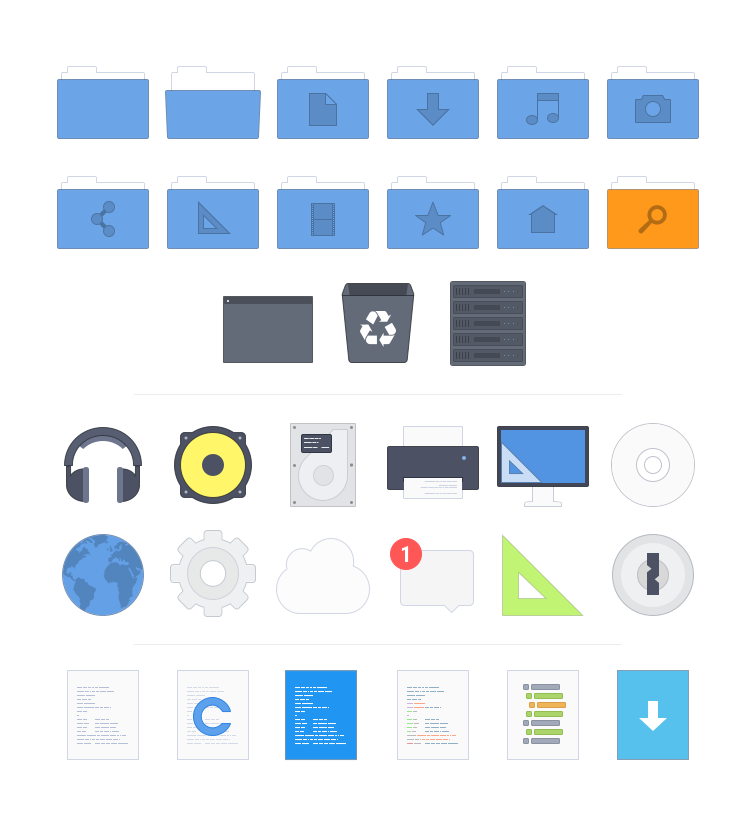 Arc - What are the best icon sets for Linux? - Slant