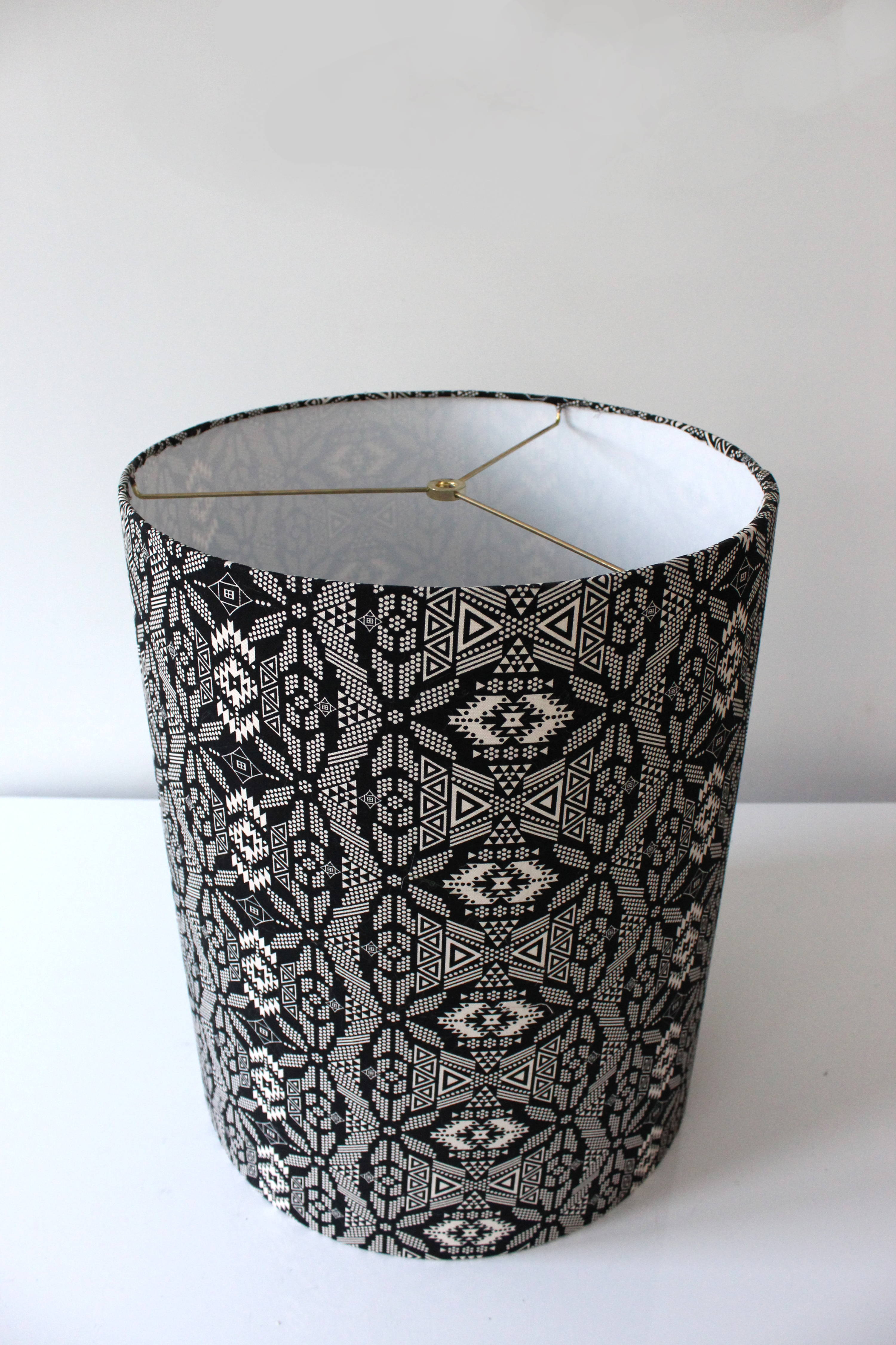 Making a DIY lampshade from scratch may seem like a daunting prospect, but with an easy to follow lampshade tutorial, you'll see that it's easy as pie! #diylampshade #lampshade #diyhomedeocr