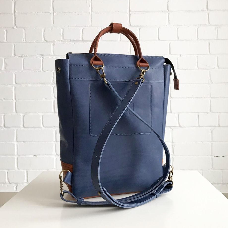 Кожаный рюкзак-сумка Urban Pack Cornflower-Cinnamon