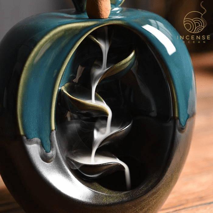 Apple Backflow Incense Burner