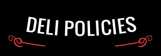 T-Shirt Deli Online Policies