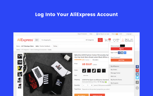 AliExpress Login Page
