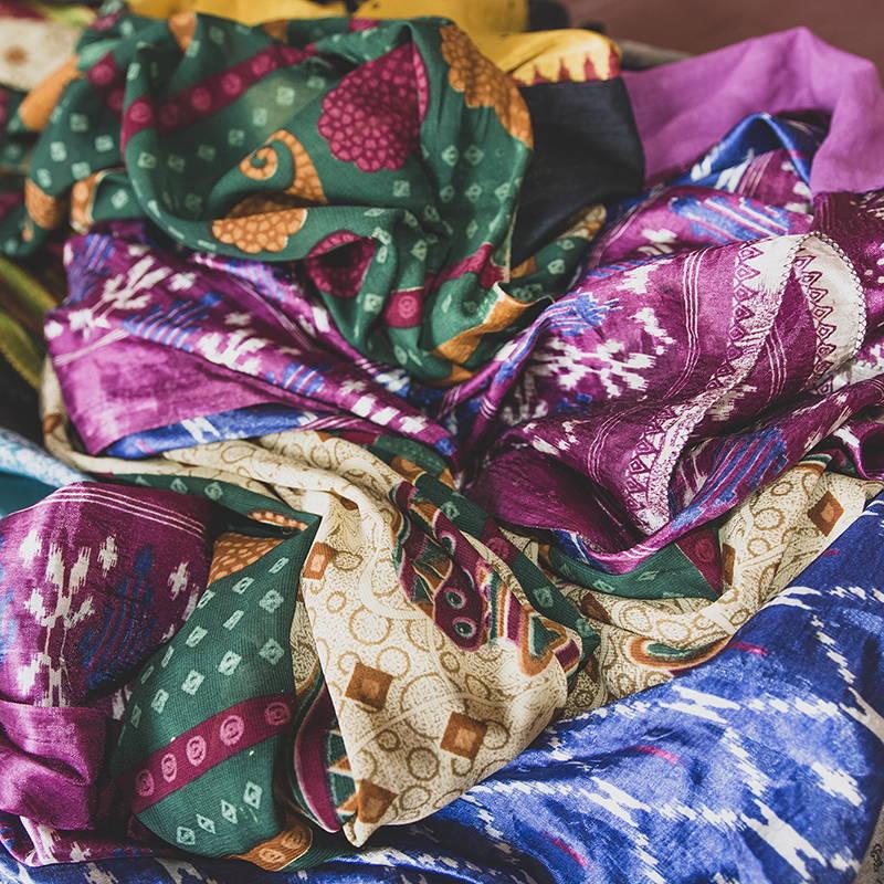 Saris népalais upcyclés écologiques