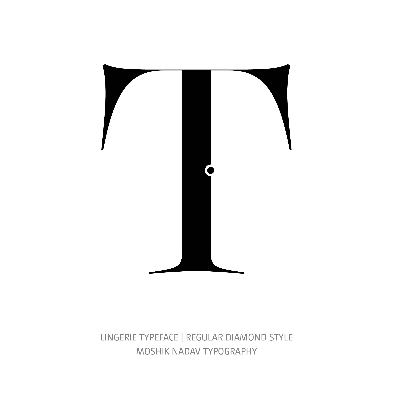 Lingerie Typeface Regular Diamond T