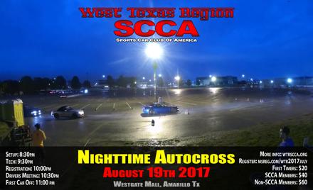 West Texas Region SCCA - August 2017 Night Event