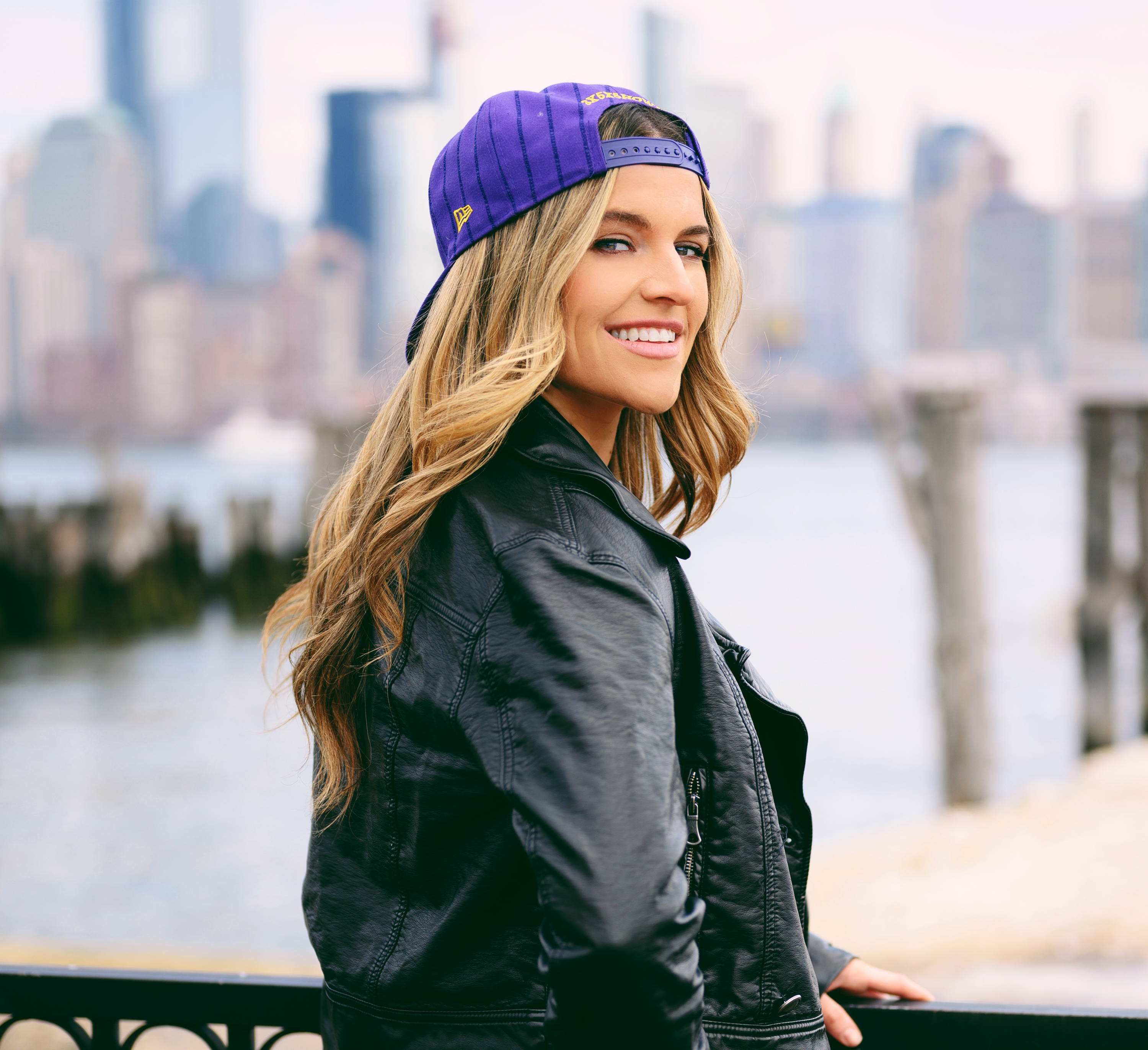 Annie ODonnell pictured in New York at sunset