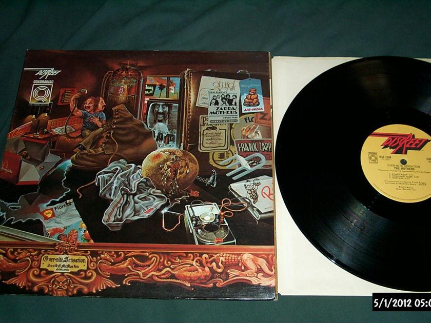Zappa-Mothers - Over-Nite Sensation cd-4 quadradisc vinyl Lp NM