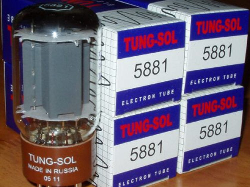 Tung Sol 5881 / 6l6 (4) Matched Reissue tubes, new