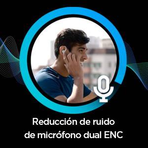 Amazfit PowerBuds - Reducción de ruido de micrófono dual ENC