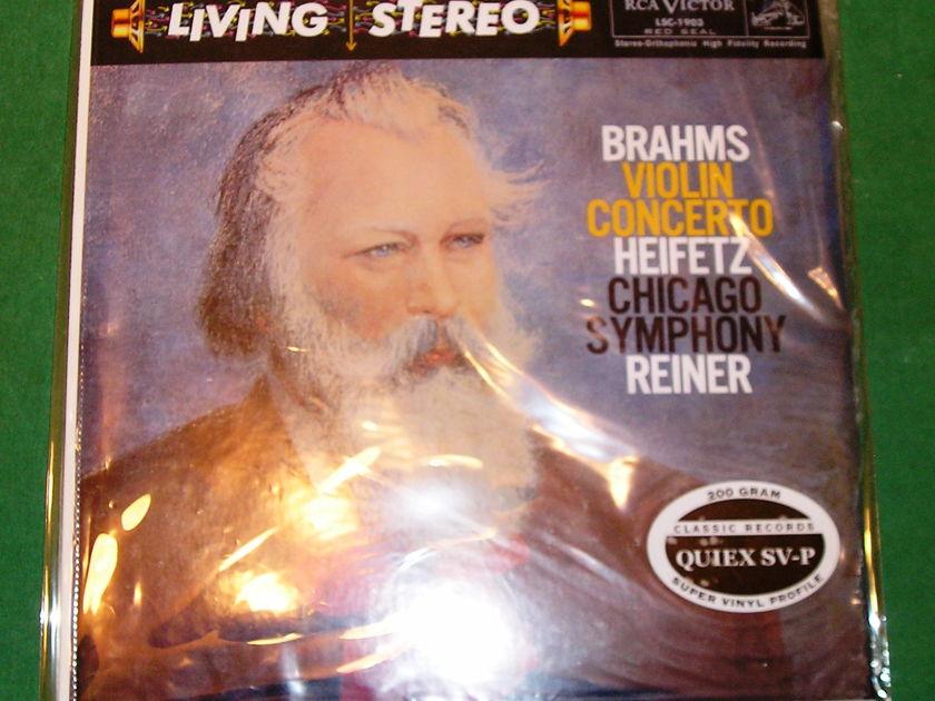 "REINER  ""BRAHMS VIOLIN CONCERTO"" - CLASSIC RECORDS 200 GRAM PRESS * NM 9/10 *"
