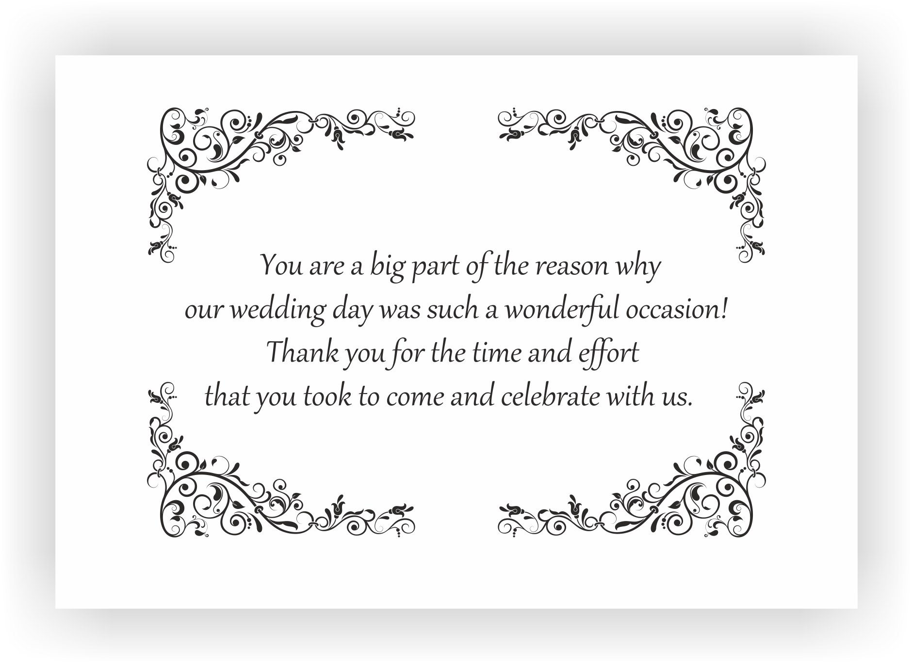 Thank You Messages For Wedding Gifts
