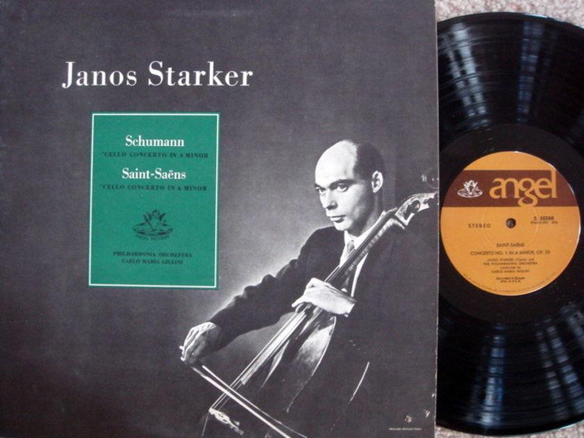 EMI Angel / JANOS STARKER, - Schumann-Saint-Saens Cello Concertos, MINT!
