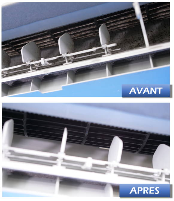 Nettoyage climatisation avant apres