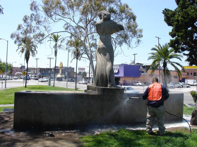 Statues - Graffiti Removal