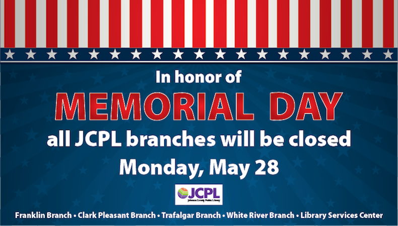 JCPL closed on Monday, May 28
